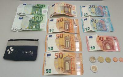 PSP recupera carteira com 454 euros que não tinha sido devolvida