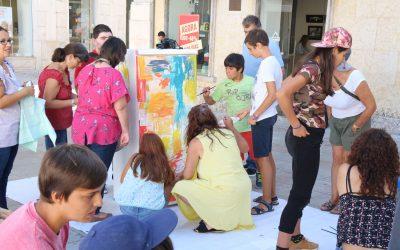 VÍDEO | Crianças e pintores do PICTORIN pintam juntos no Largo do Seminário