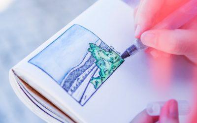 Encontro de Sketch e Aguarelas no Arripiado