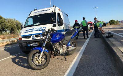 Despiste de motociclo provoca dois feridos em Almeirim