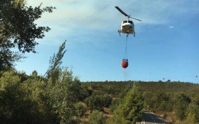Fogo no concelho de Tomar mobiliza mais de 200 operacionais e nove meios aéreos