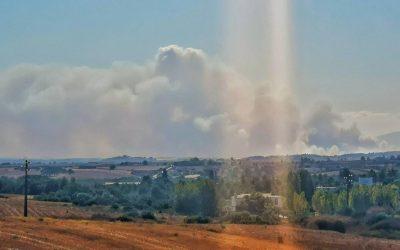 Dominado o fogo combatido por 400 operacionais em Alcoentre