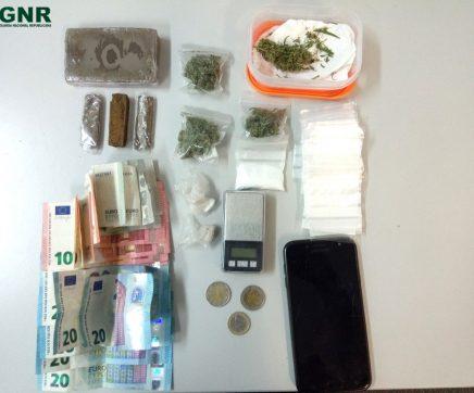 Suspeito de tráfico de droga detido pela GNR