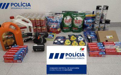PSP recupera artigos furtados em loja de Santarém e identifica dois suspeitos