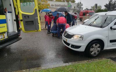 Atropelamento em passadeira junto ao Hospital de Santarém provoca um ferido grave