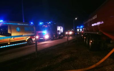 Incêndio em habitação provoca sete feridos e quatro desalojados