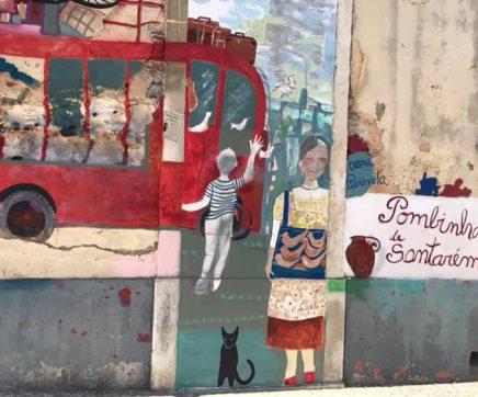 Mural do II PICTORIN evoca memórias da cidade