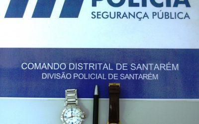 PSP de Santarém recupera artigos furtados a suspeita de 17 anos