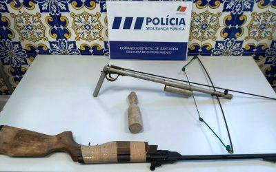 PSP apreende armas e granada a homem de 43 anos