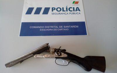 PSP apreende arma em caso de violência doméstica