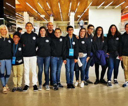 Alunos da Escola D. João II em Itália