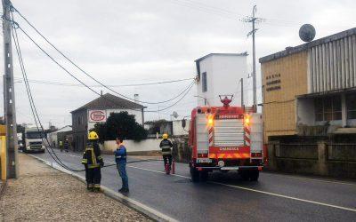 Incêndio em cabine eléctrica corta trânsito na EN 118