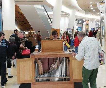 Flashmob promove II Festival de Órgão de Santarém no W Shopping
