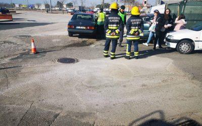 Aparatoso acidente entre três viaturas provoca um ferido em Almeirim