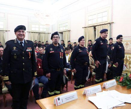 39 elementos condecorados nos 189 anos dos Bombeiros Municipais de Santarém