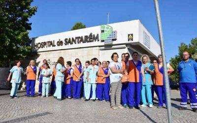 Trabalhadoras da limpeza do Hospital de Santarém exigem pagamento atempado
