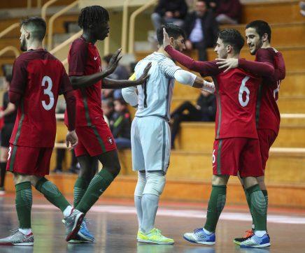Seleção portuguesa de sub-21 de futsal goleia seleção de Moçambique em Rio Maior