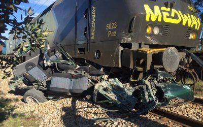 Abalroamento ferroviário provoca uma vítima mortal