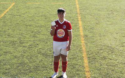 Iniciado da União de Santarém recebe cartão branco por mostrar desportivismo e fair-play