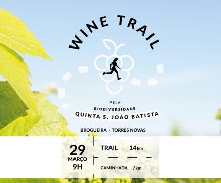 Wine Trail no dia 29 de Março na Quinta São João Batista