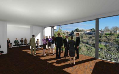 Guedes de Amorim oferece à cidade projecto de arquitectura de novas Capelas Mortuárias