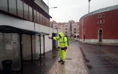 Salvaterra de Magos desinfecta e higieniza espaços públicos
