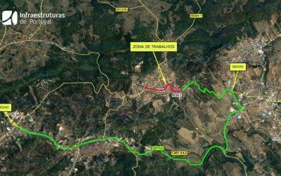 Obras condicionam trânsito na estrada entre Amiais de Cima e Alcanena