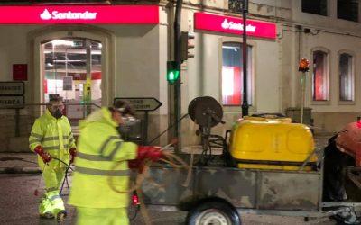 C/FOTOS | Almeirim iniciou desinfecção de espaços públicos