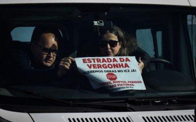 Protesto no IC2 gera 16 quilómetros de carros em marcha lenta