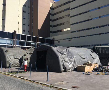 Hospitais do Médio Tejo reforçam medidas de protecção à covid-19