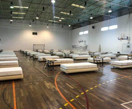 Câmara de Almeirim monta 120 camas de prevenção para a Covid-19 no concelho