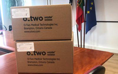 CIMLT recebe primeiros ventiladores para oferecer ao Hospital de Santarém