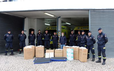 Empresa de suinicultura oferece material de protecção aos Bombeiros de Santarém