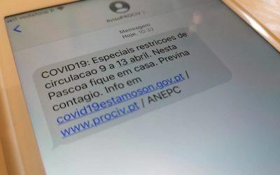 Proteção civil envia SMS sobre restrições à circulação na Páscoa