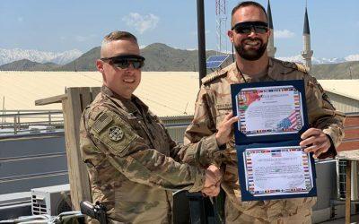 Militar de Santarém reconhecido publicamente pelo Exército dos Estados Unidos da América