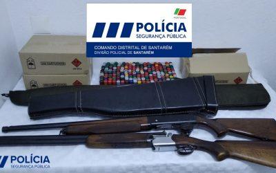 PSP de Santarém apreende armas a suspeito de violência doméstica