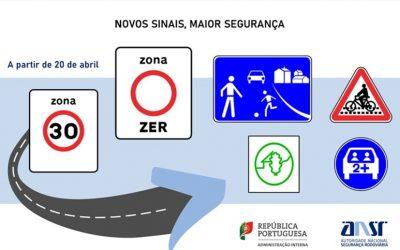 Novos sinais de trânsito e informação entram em vigor a 20 de Abril