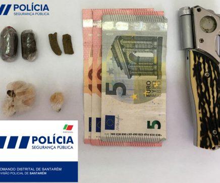 Jovem detido por tráfico de estupefacientes em Santarém