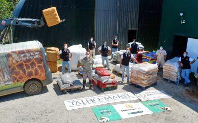 Forcados Amadores de Coruche entregam seis toneladas de alimentos ao Badoca Safari Park