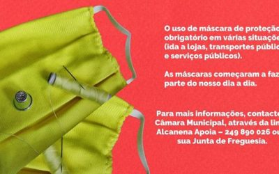 Alcanena promove rede para confeccionar máscaras sociais
