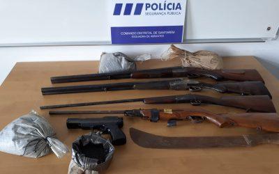 PSP apreende armas a suspeito de violência doméstica