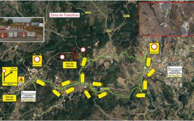 Obras de 3,2 ME na Estrada Regional 361 obrigam a desvio de trânsito em Alcanena
