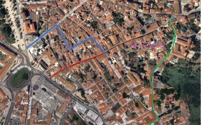 Trabalhos de demolição de prédio voltam a interditar trânsito na Rua João Afonso em Santarém