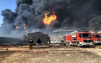 Mais de meia centena de bombeiros combateram fogo em aterro na Chamusca