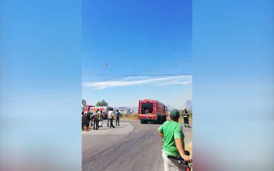 VÍDEO | Incêndio em Almoster consumiu zona de pasto e um anexo de palha