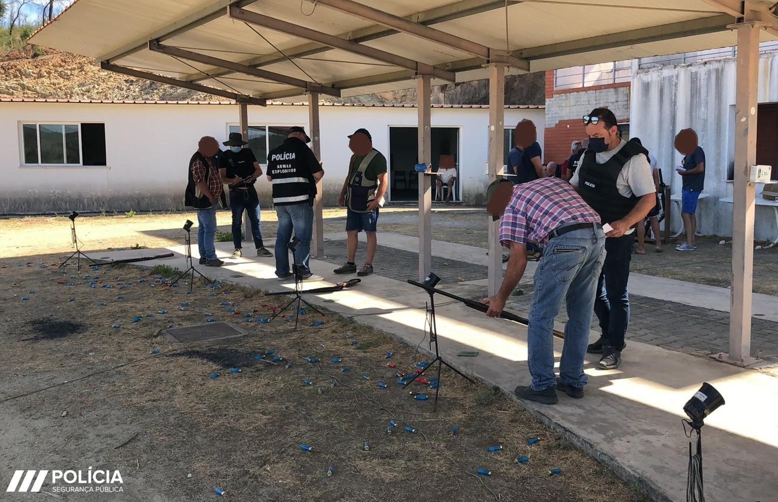PSP encerra campo de tiro ilegal em Mação