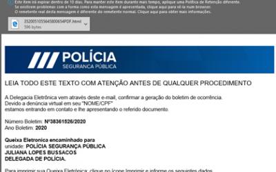 PSP alerta para email fradulento