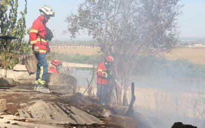 FOTOS   Incêndio em encosta de  Santarém consome cerca de 5 hectares de mato