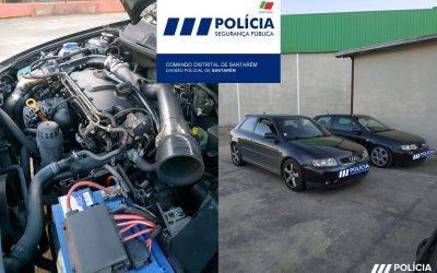 PSP de Santarém apreende dois carros alterados