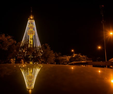 Abrantes acendeu árvore de Natal com 75 metros de altura
